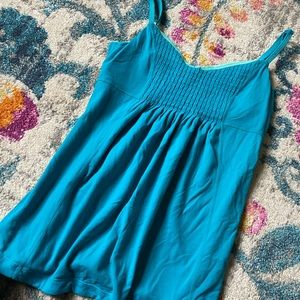 Lululemon flowy workout tank top, turquoise